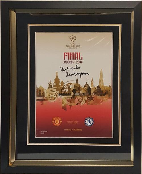 Sir Alex Ferguson Singed 2008 Champions League Program